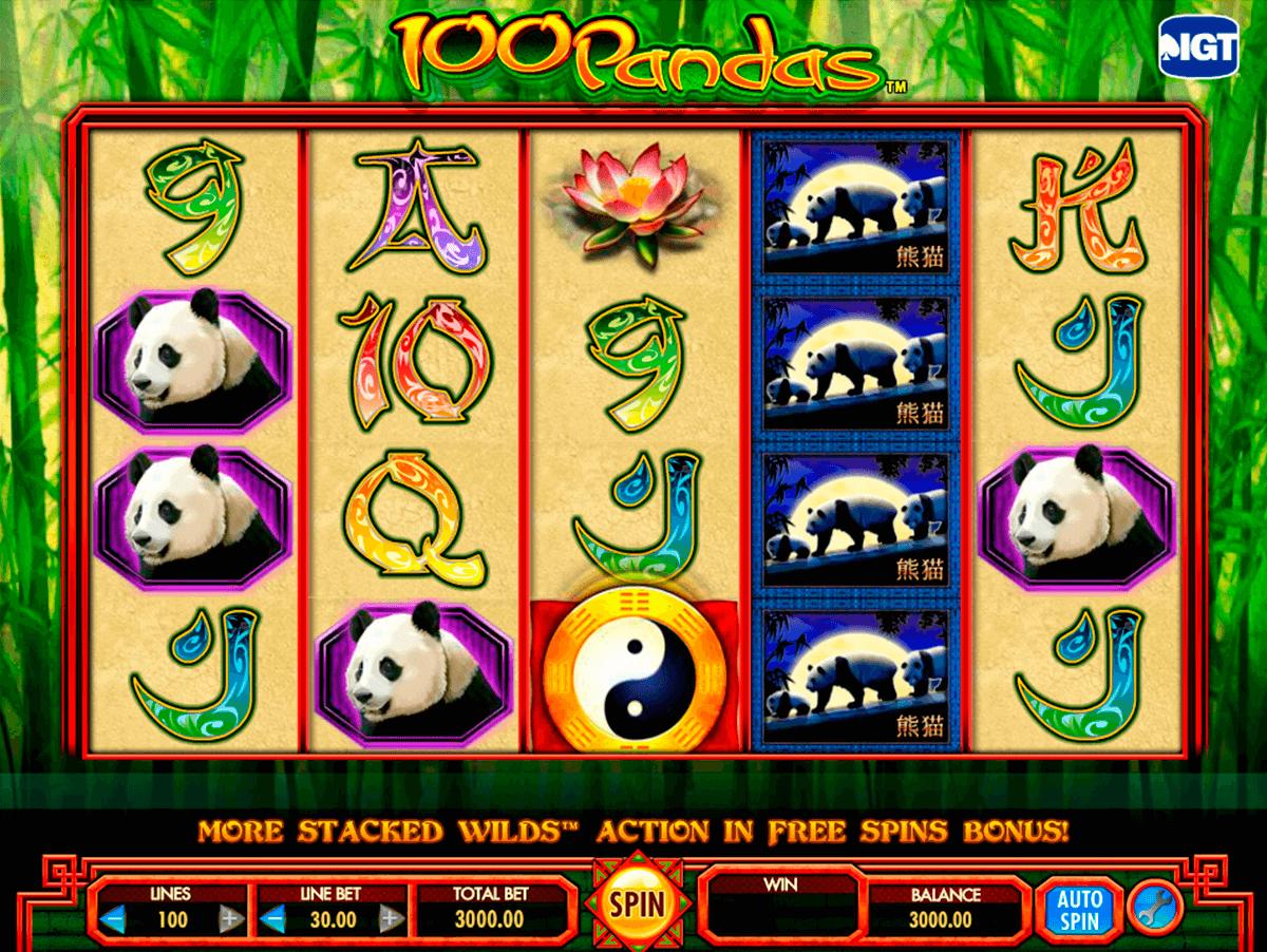 100 pandas igt tragamonedas gratis