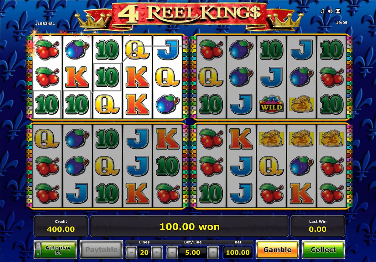 4 reel kings novomatic tragamonedas gratis