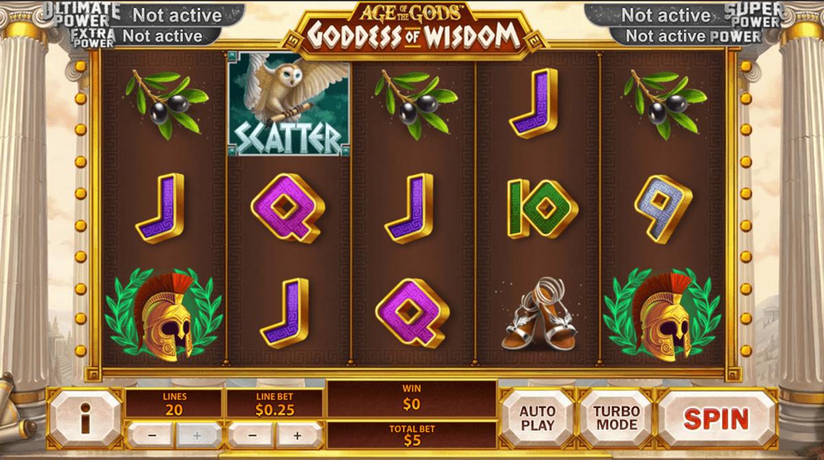 age of the gods goddess of wisdom playtech tragamonedas gratis