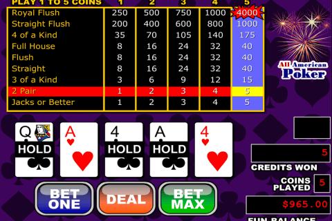 all american video poker rtg
