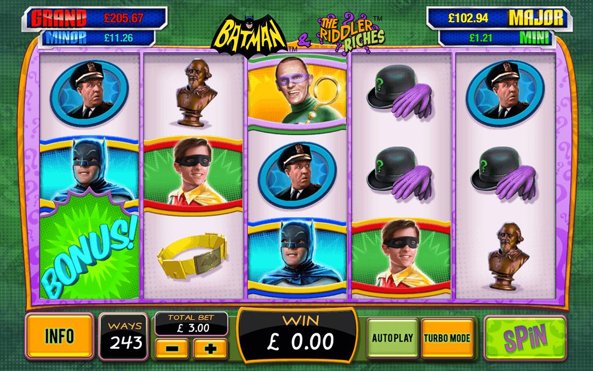batman the riddler riches playtech tragamonedas gratis