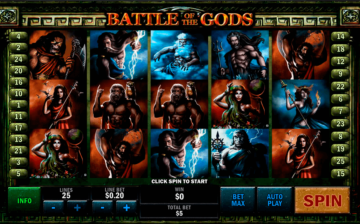 battle of the gods playtech tragamonedas gratis