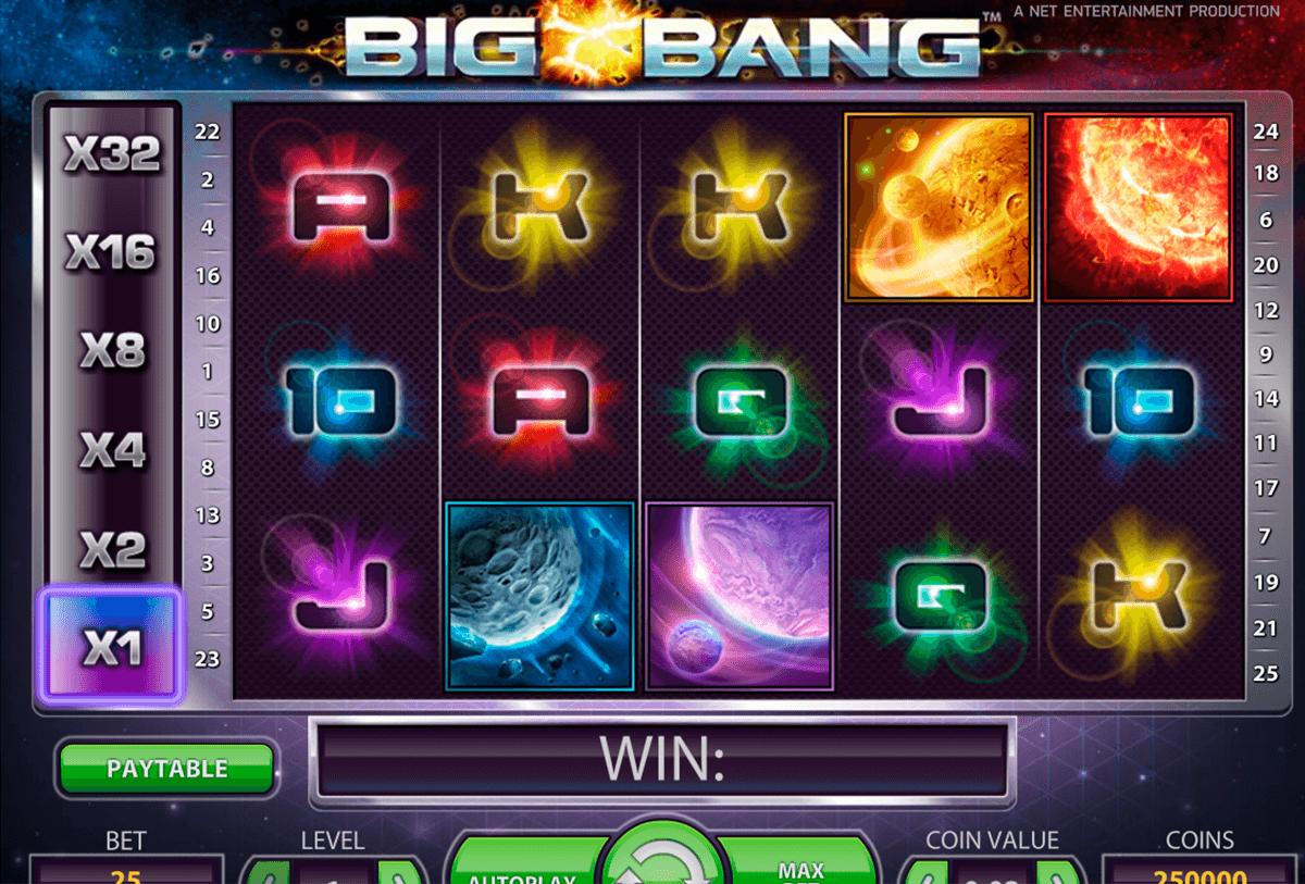 big bang netent tragamonedas gratis
