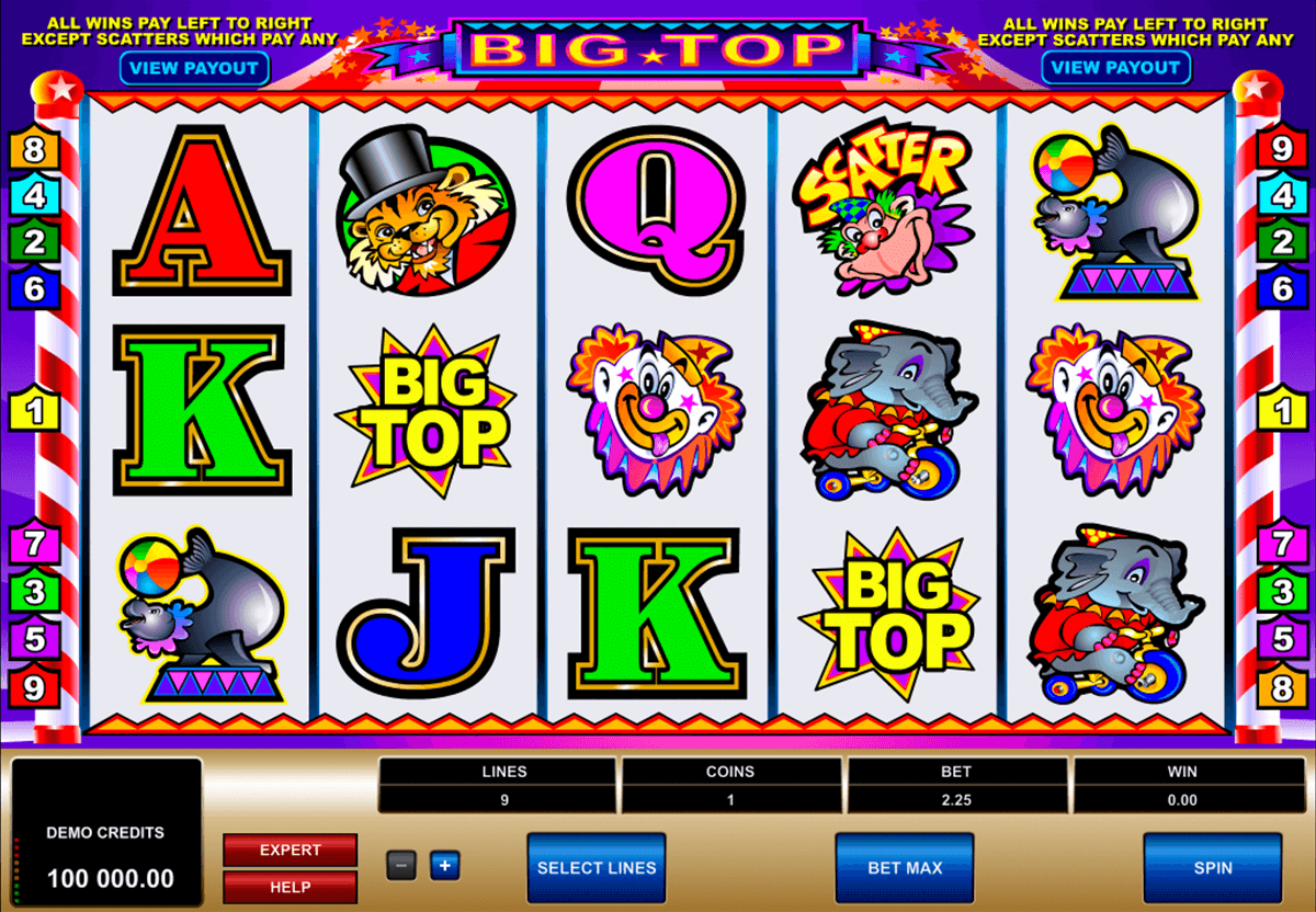 big top microgaming tragamonedas gratis