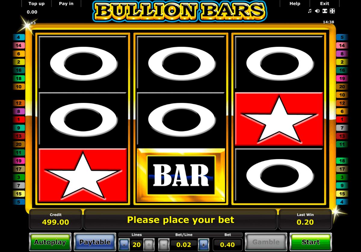 bullion bars novomatic tragamonedas gratis