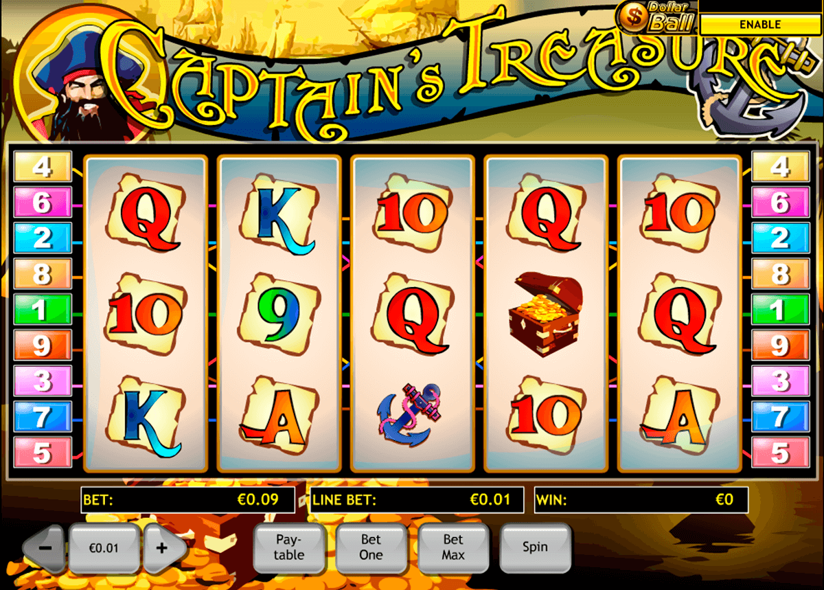 captains treasure playtech tragamonedas gratis