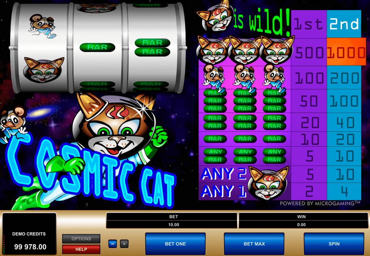 cosmic cat microgaming tragamonedas gratis
