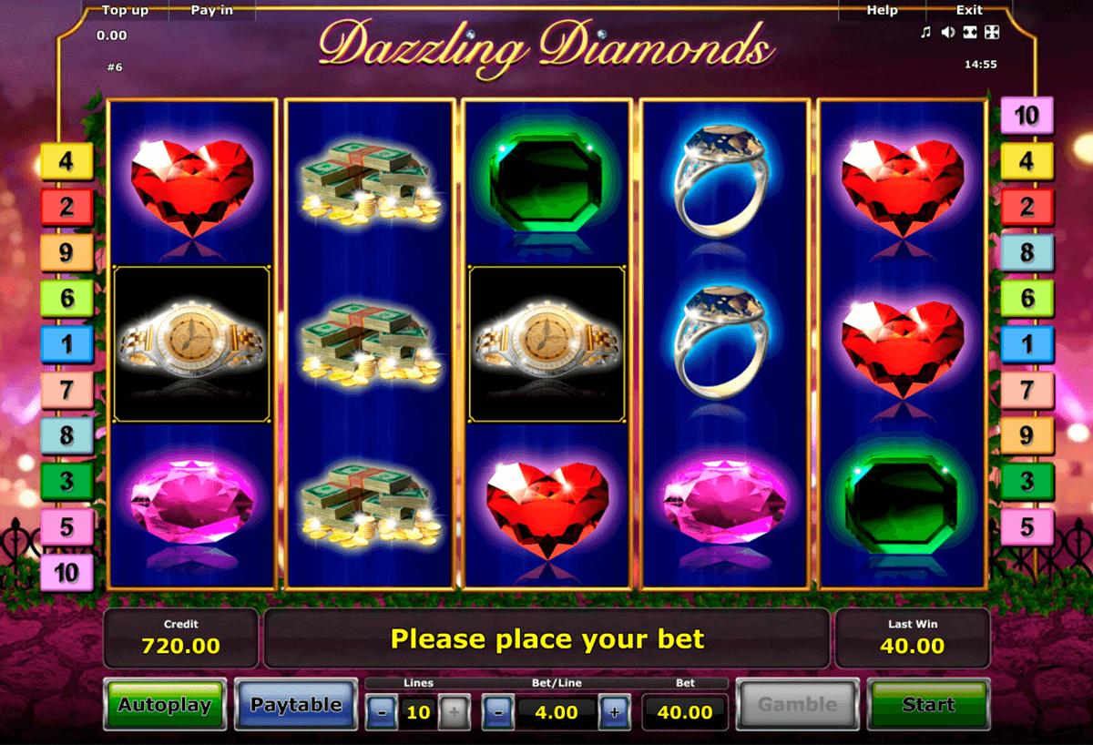dazzling diamonds novomatic tragamonedas gratis