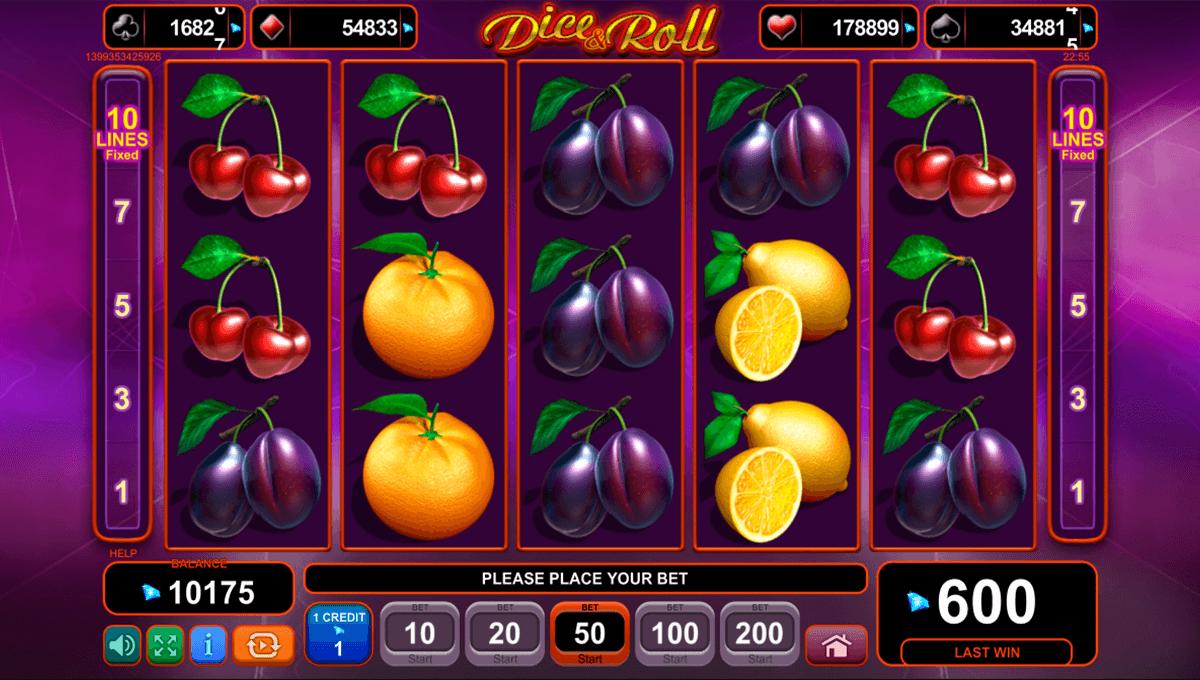 dice and roll egt tragamonedas gratis