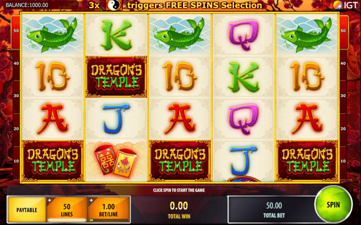 dragons temple igt tragamonedas gratis