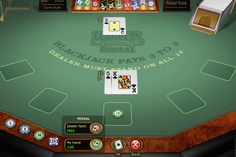 european blackjack redeal microgaming