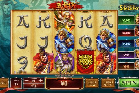 five tiger generals playtech tragamonedas gratis