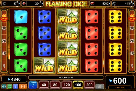 flaming dice egt tragamonedas gratis