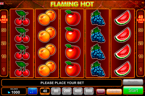 flaming hot egt tragamonedas gratis