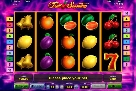 fruit sensation novomatic tragamonedas gratis