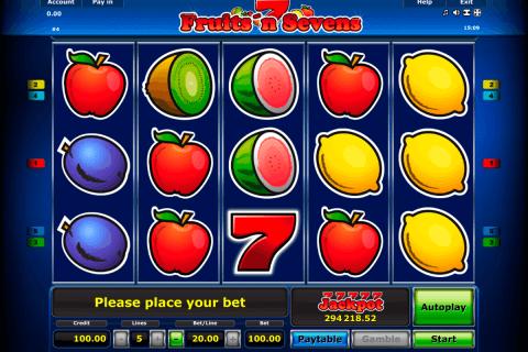 fruitsn sevens novomatic tragamonedas gratis