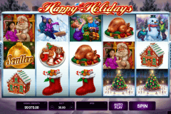 happy holidays microgaming tragamonedas gratis