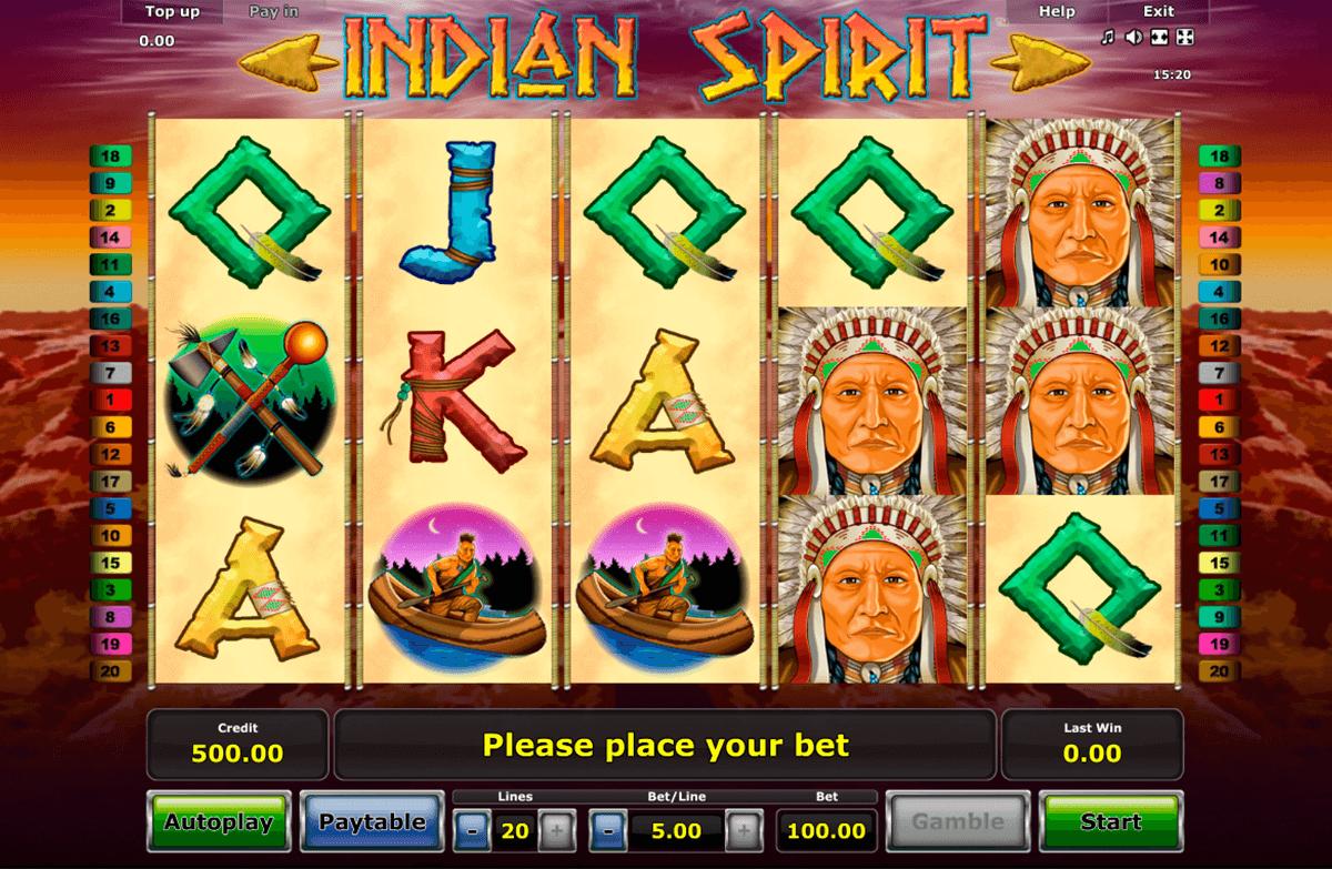 indian spirit novomatic tragamonedas gratis