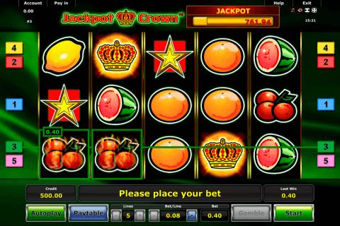 jackpot crown novomatic tragamonedas gratis
