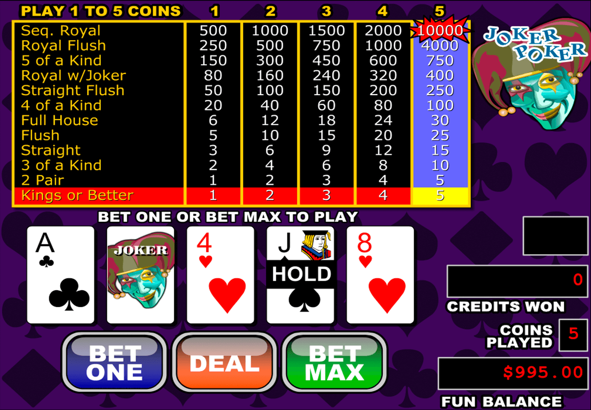 Video Poker Gratis