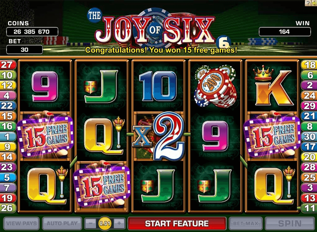 joy of six microgaming tragamonedas gratis