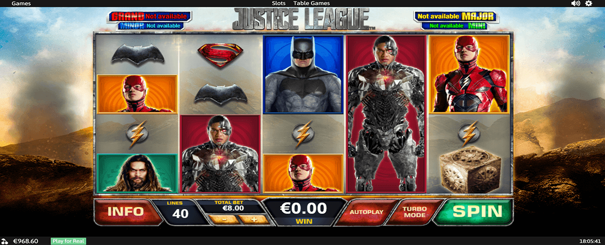 justice league playtech tragamonedas gratis