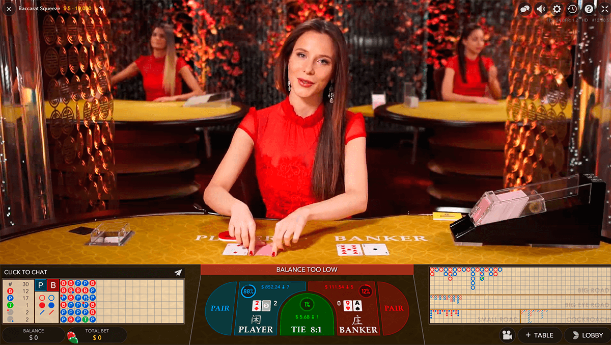 live baccarat squeeze evolution gaming