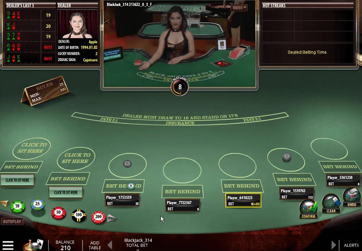 live blackjack microgaming