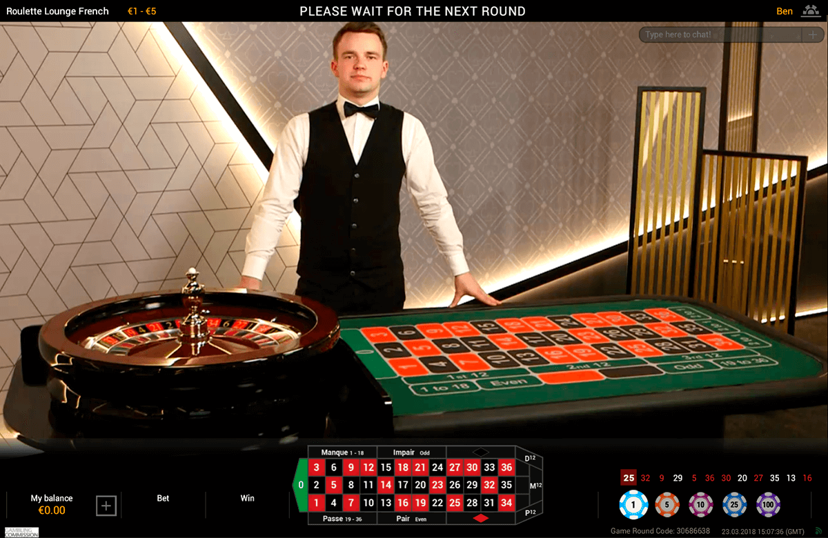 live french roulette playtech