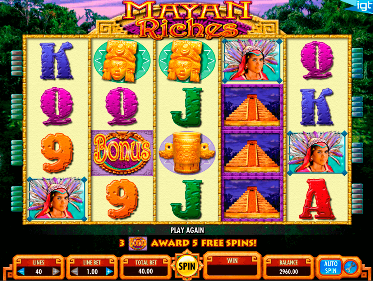 mayan riches igt tragamonedas gratis