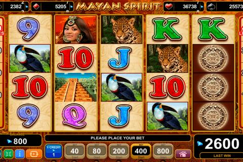 mayan spirit egt tragamonedas gratis
