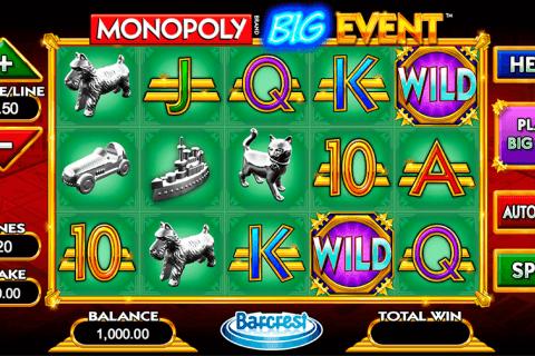 monopoly big event wms tragamonedas gratis
