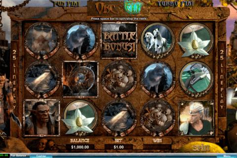 orc vs elf rtg tragamonedas gratis