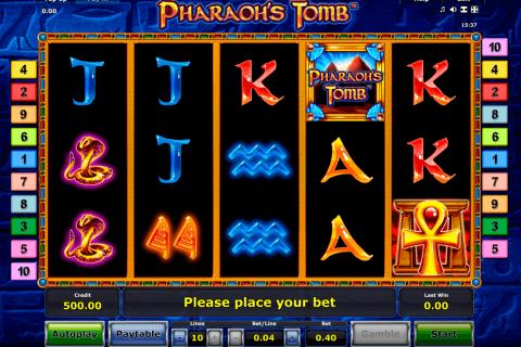 pharaohs tomb novomatic tragamonedas gratis