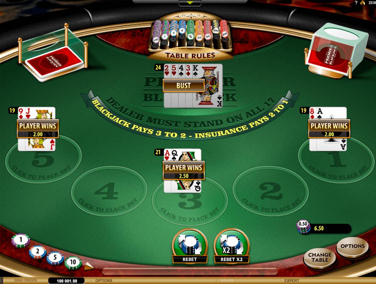 premier blackjack multihand gold microgaming