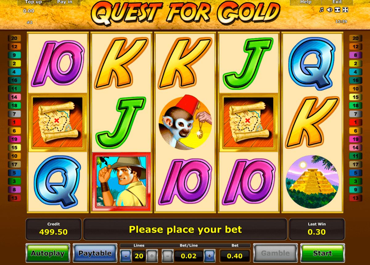 quest for gold novomatic tragamonedas gratis