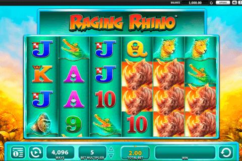 raging rhino wms tragamonedas gratis