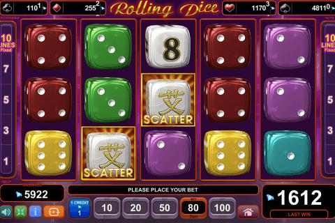 rolling dice egt tragamonedas gratis