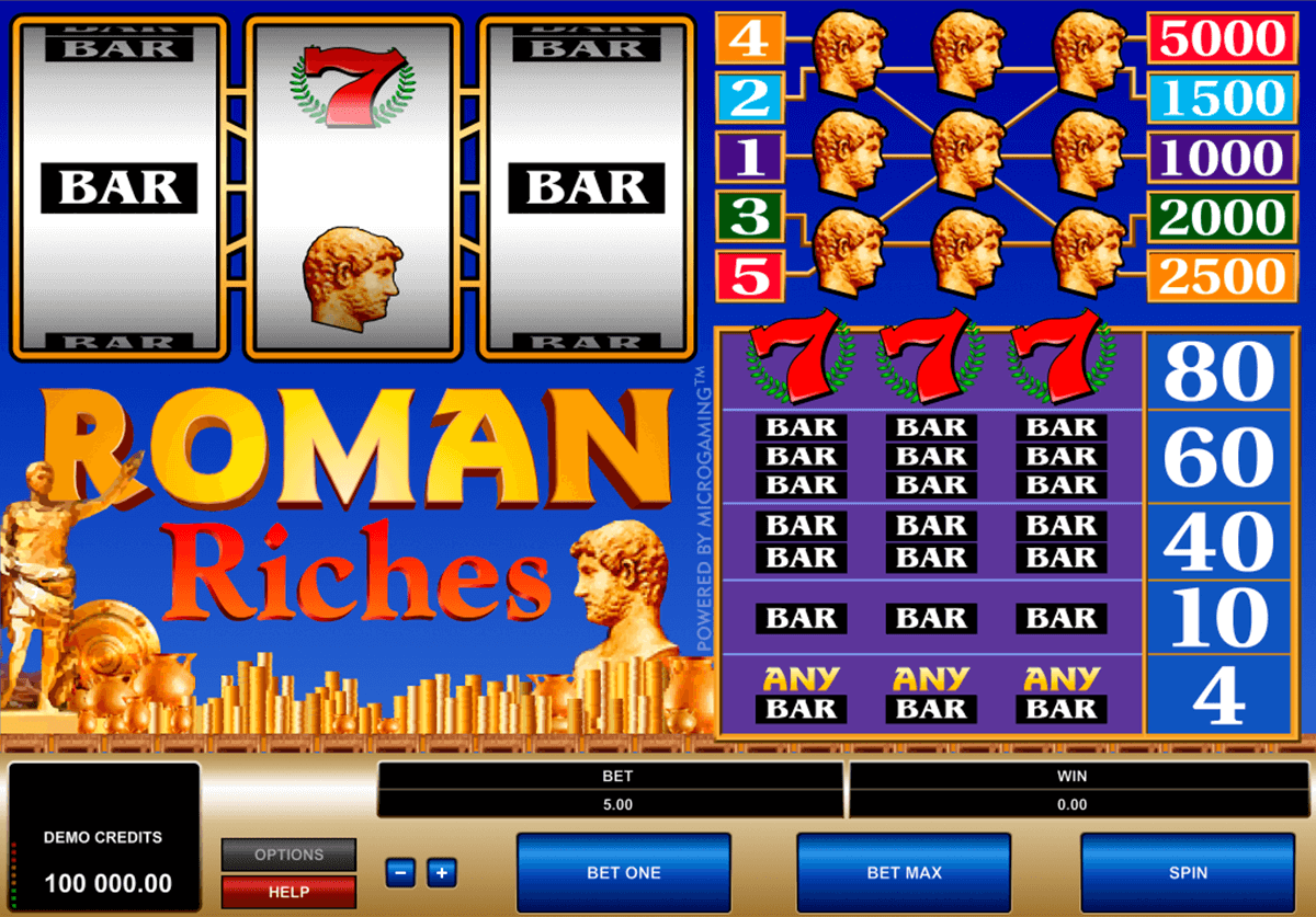 roman riches microgaming tragamonedas gratis