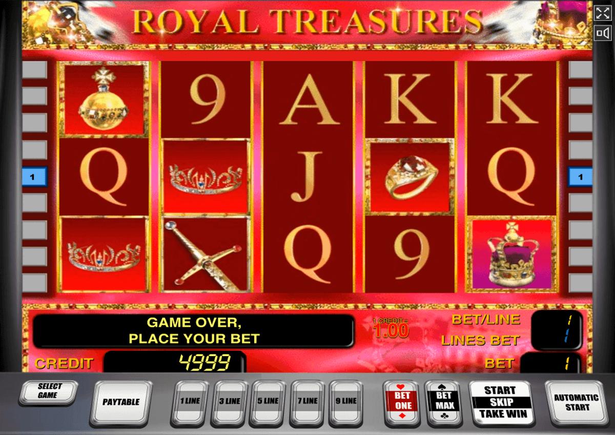 royal treasures novomatic tragamonedas gratis