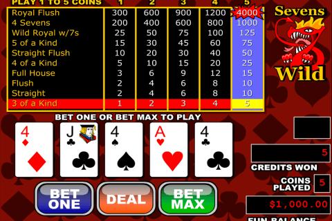 sevens wild video poker rtg