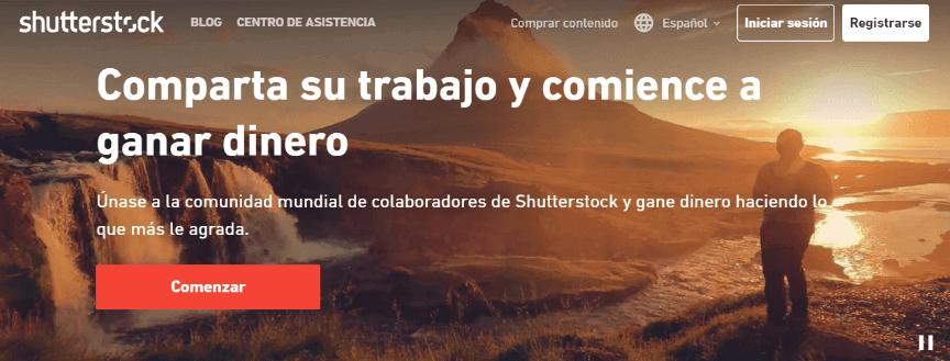 Vender las fotos en Shutterstock