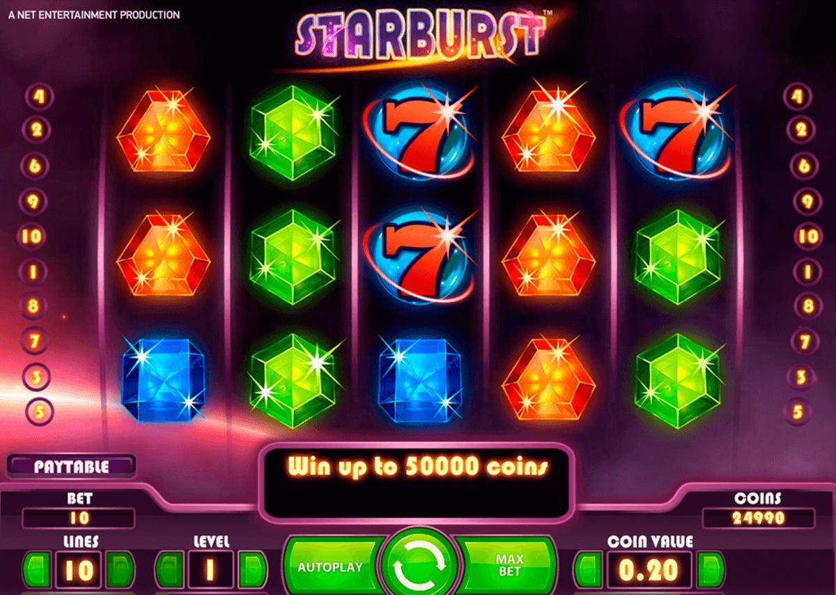 starburst netent tragamonedas gratis
