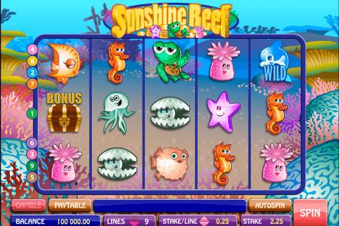 sunshine reef microgaming tragamonedas gratis