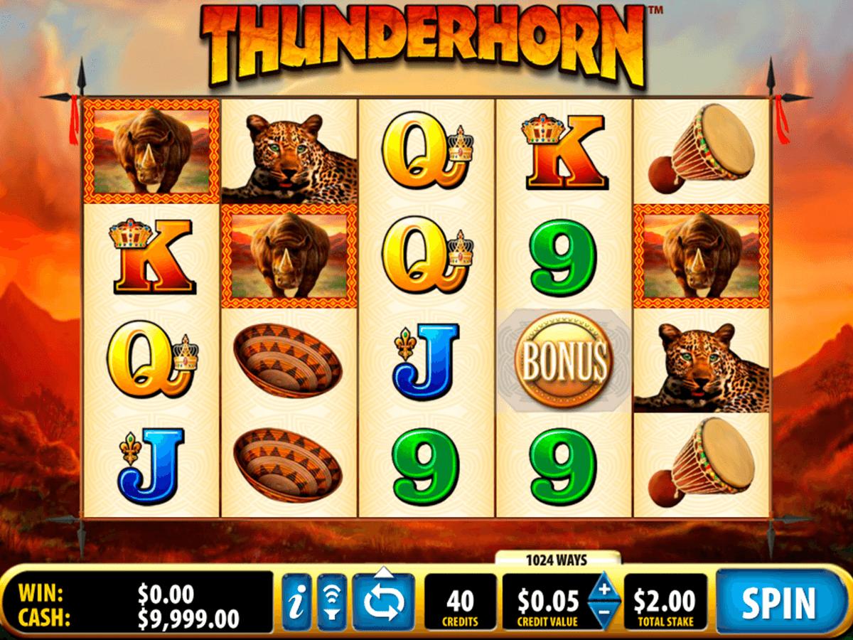 thunderhorn bally tragamonedas gratis