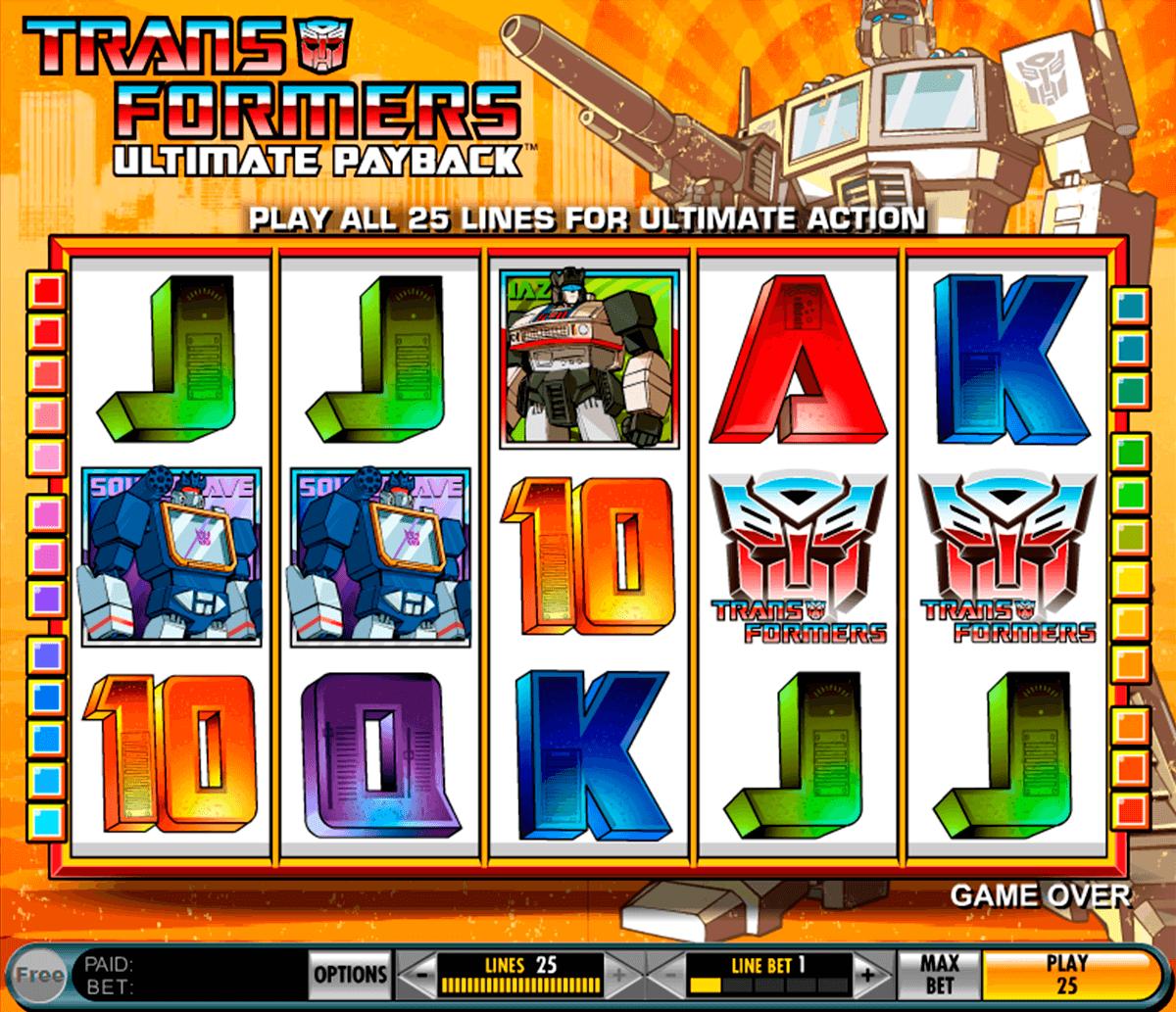 transformers ultimate payback igt tragamonedas gratis