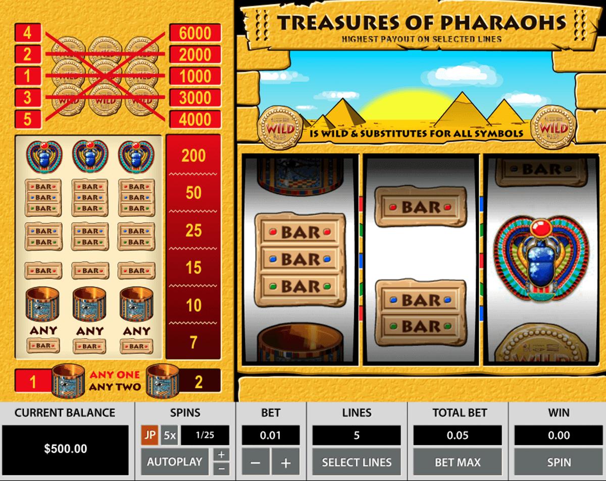 treasures of the pharaohs pragmatic tragamonedas gratis