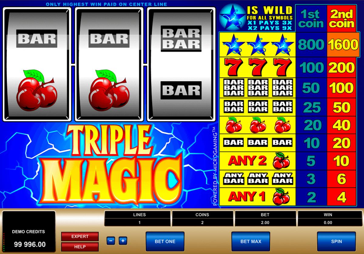 triple magic microgaming tragamonedas gratis