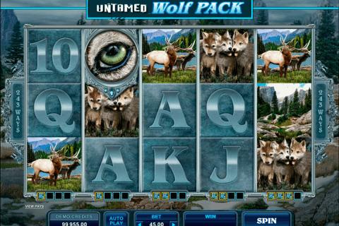untamed wolf pack microgaming tragamonedas gratis