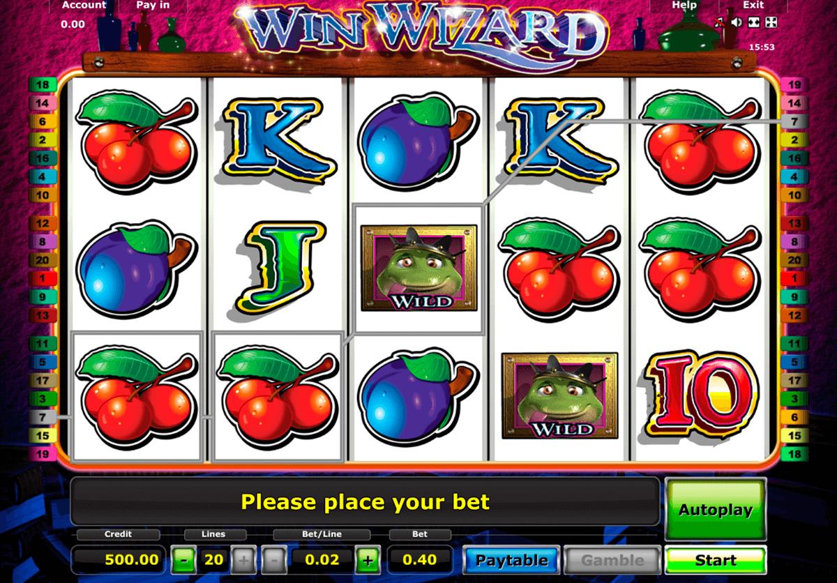 win wizard novomatic tragamonedas gratis